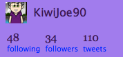 This is my new @KiwiJoe90 account
